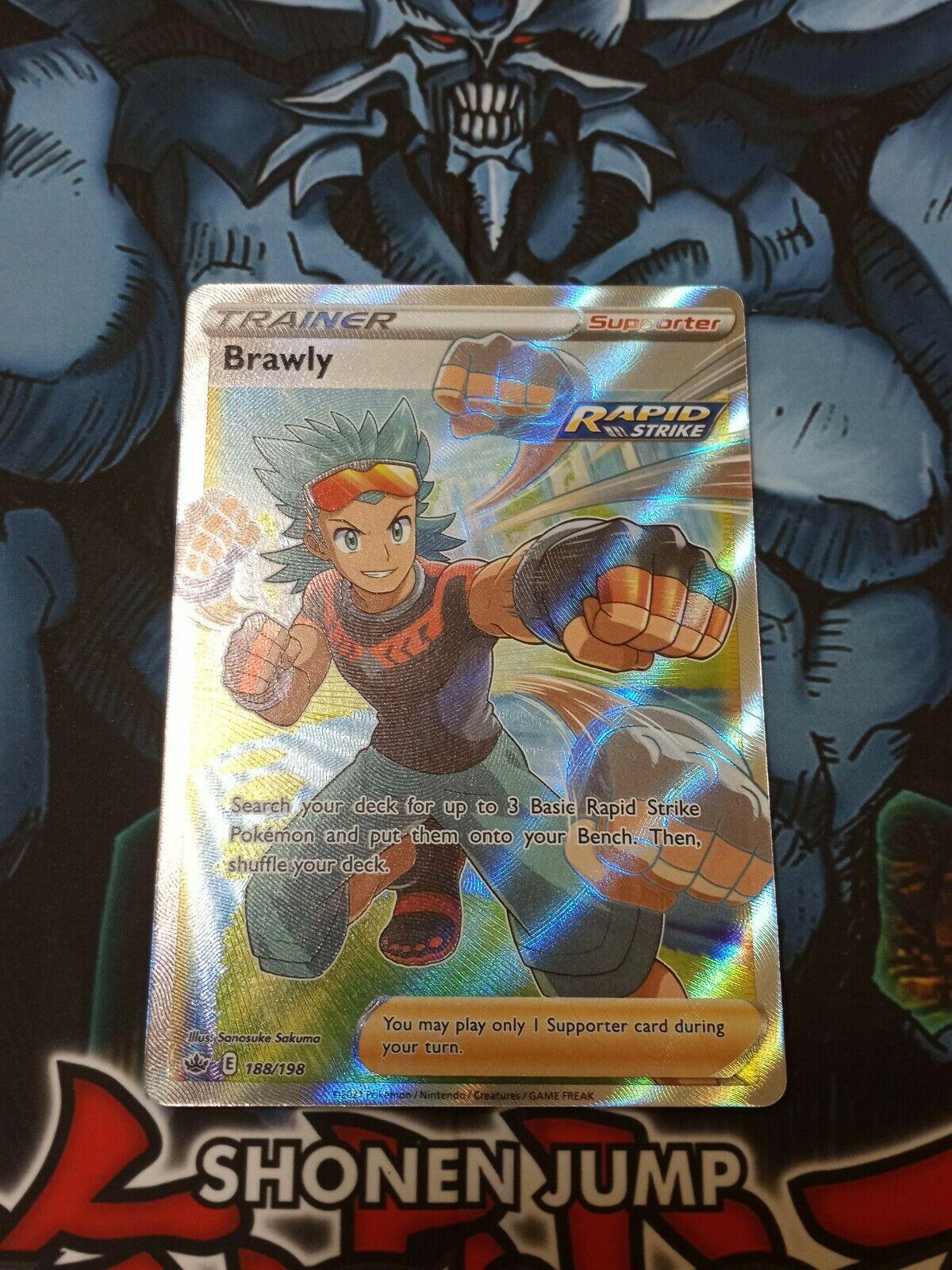 Pokemon: Chilling Reign- Brawly Full Art Trainer 212/198