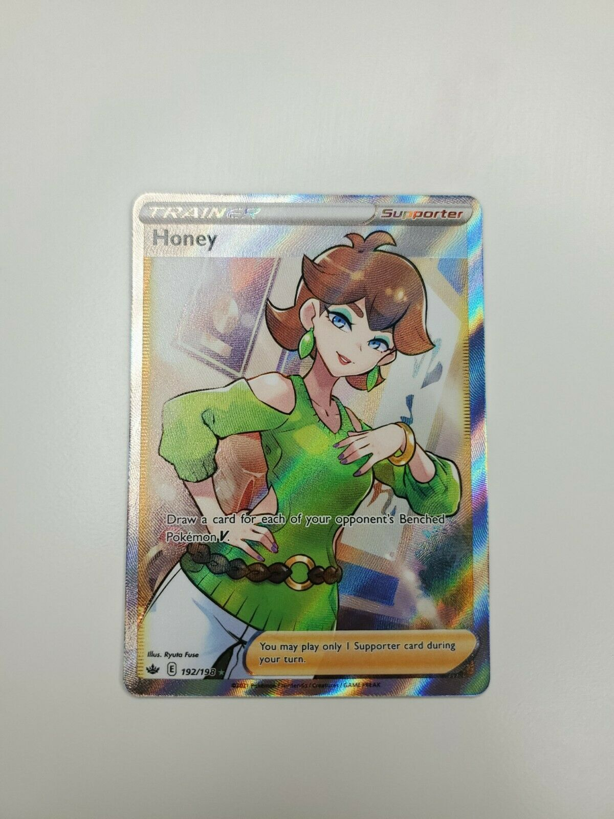 Pokemon TCG - Chilling Reign Trainer Honey 192/198 - Full Art NM