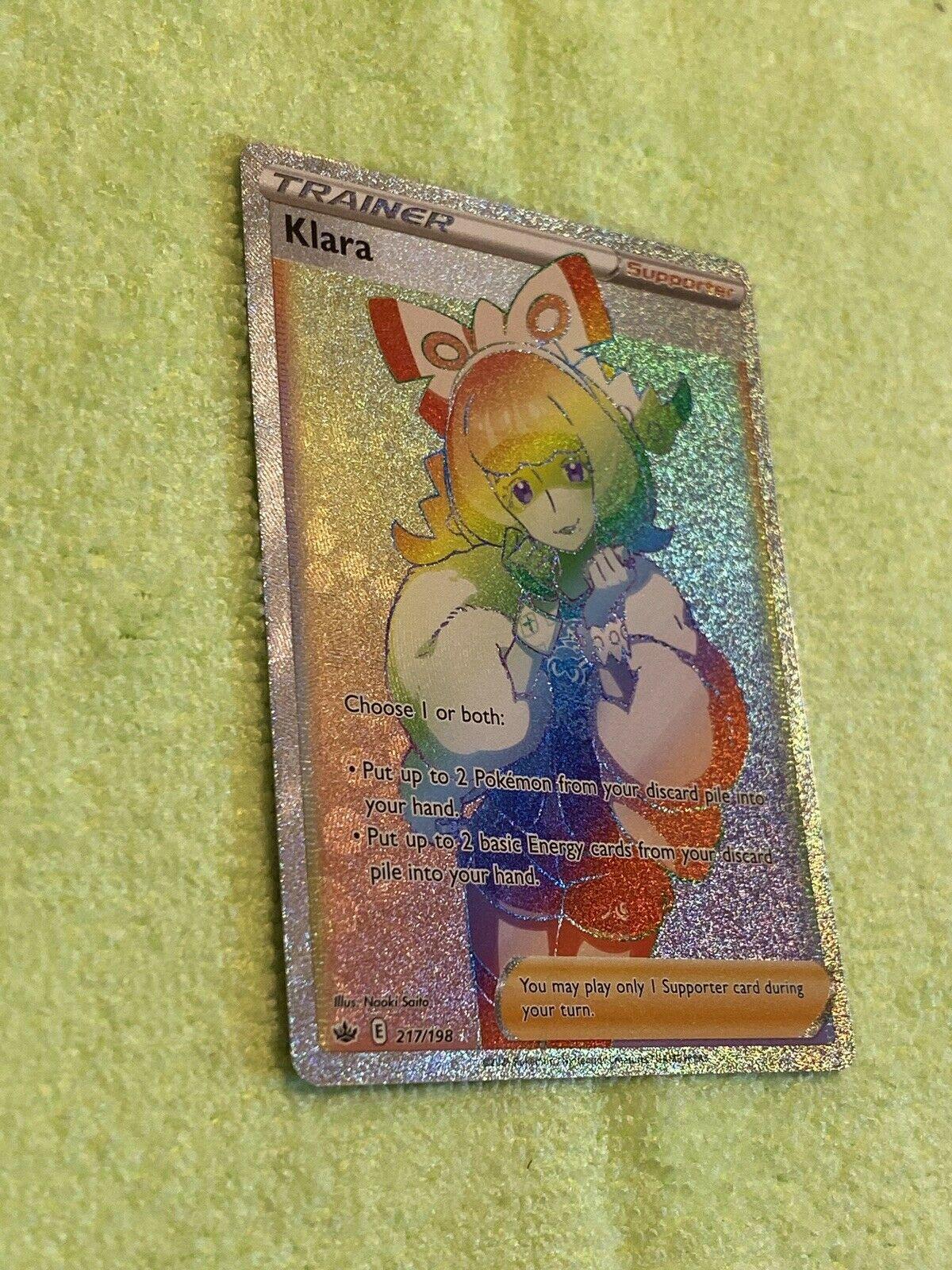 Klara 217/198 Rainbow Secret Rare! NM! See Pics! Pokemon Chilling Reign