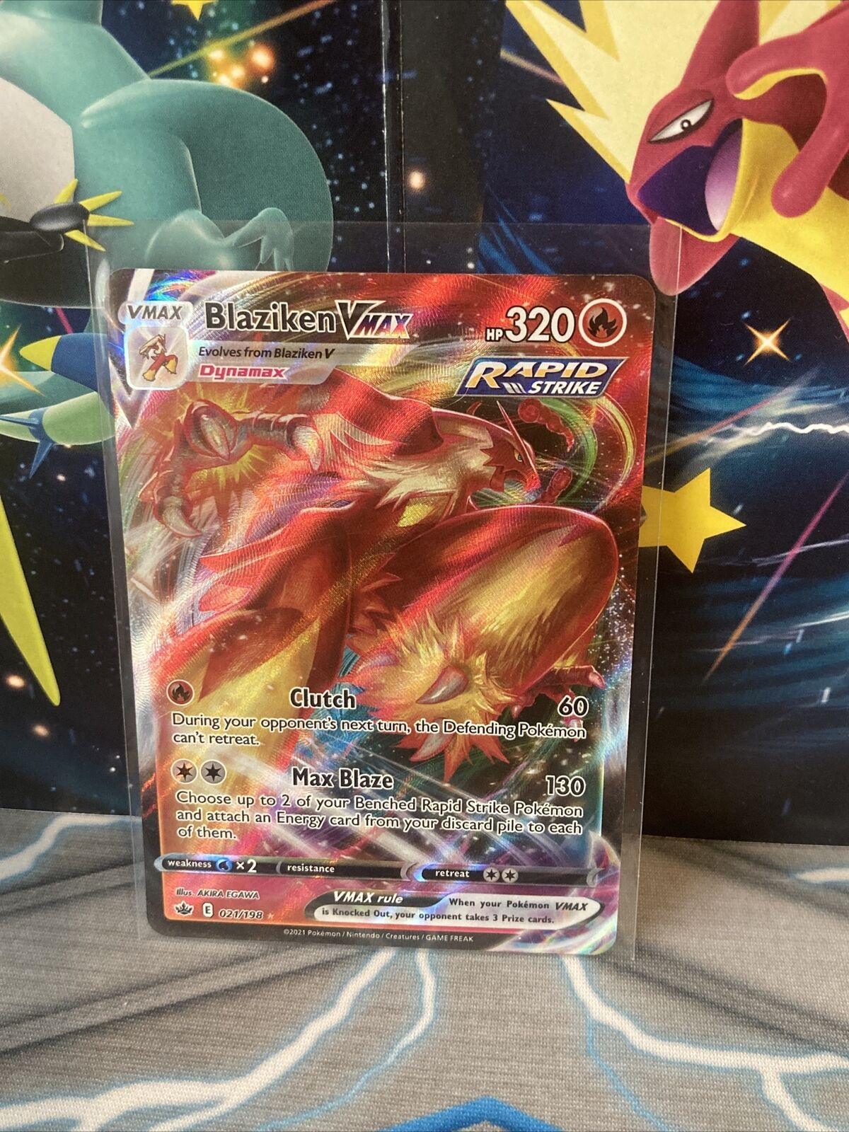 Pokémon TCG BLAZIKEN VMAX 021/198 CHILLING REIGN FRESH PULL!