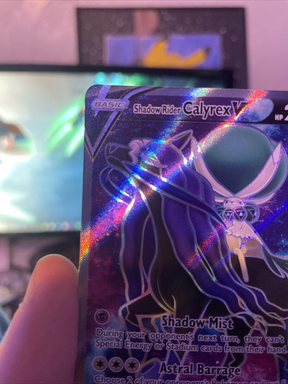 POKEMON CHILLING REIGN Shadow Rider Calyrex V Full Art 171/198 NM - Image 5