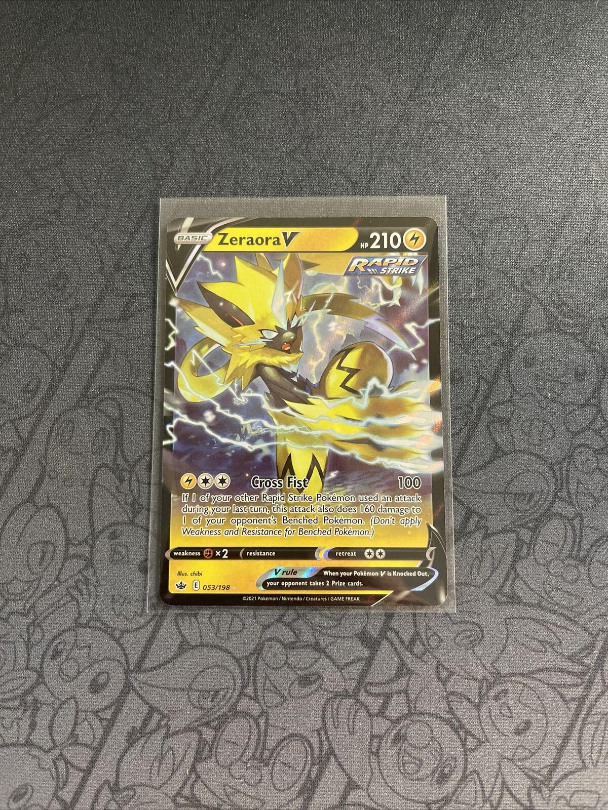 Zeraora V 053/198 Chilling Reign Ultra Rare Holo Pokemon Card NM