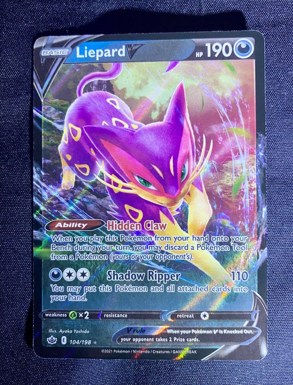 Liepard V 104/198 Chilling Reign NM Full Art Ultra Rare Pokemon Card