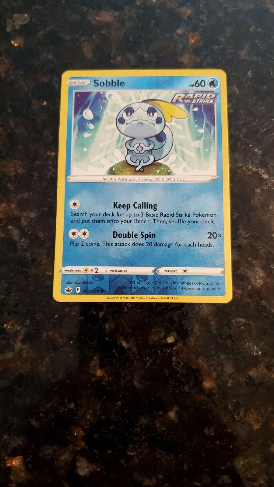 Pokemon Card Chilling Reign - *Sobble* 041/198 Reverse Holo Foil - NM