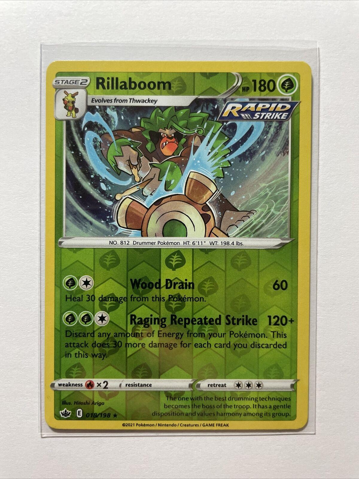 Rillaboom 018/198 Reverse Holo Rare Chilling Reign Pokemon - MINT