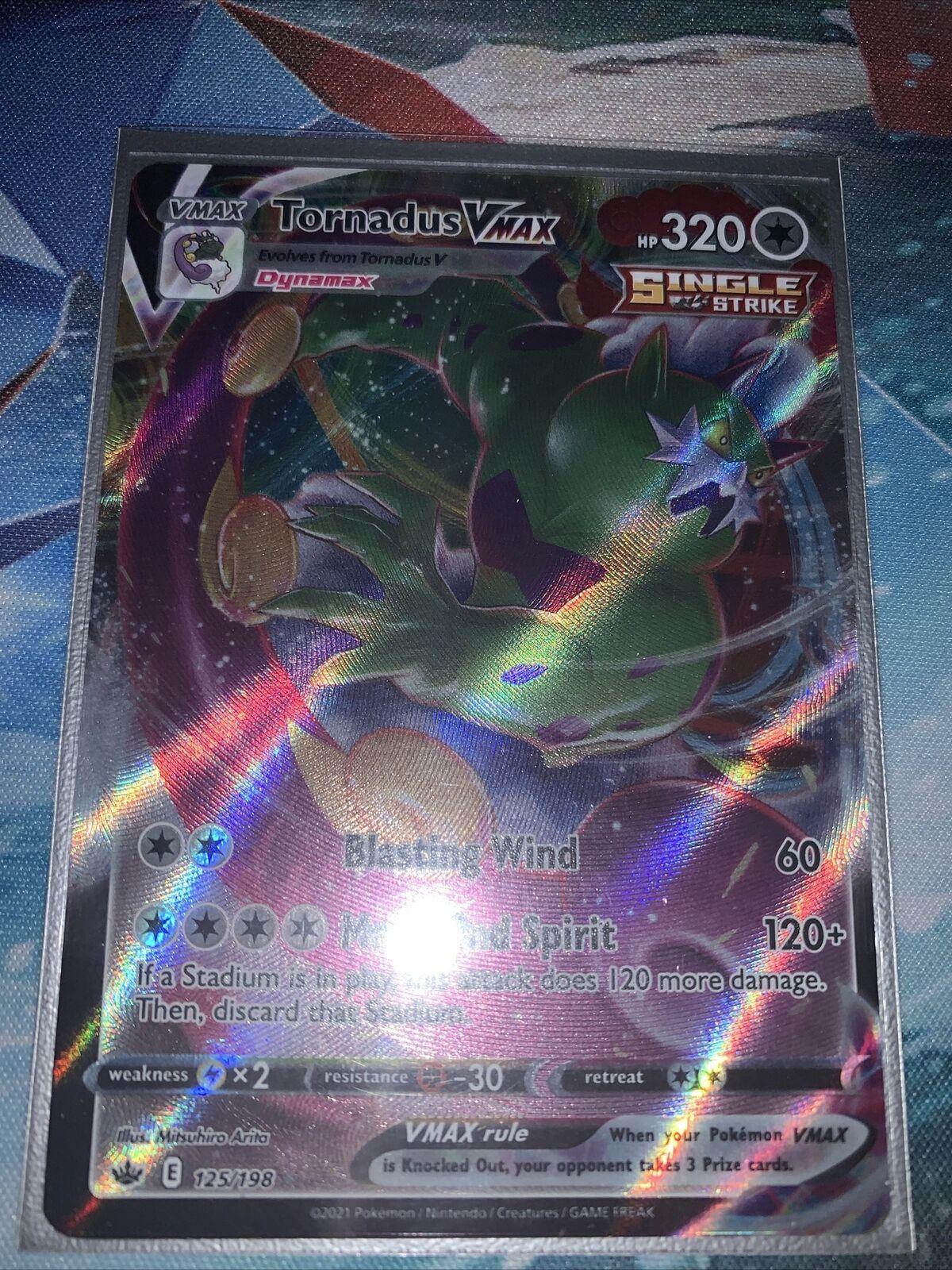 Tornadus VMAX 125/198 - Chilling Reign Rare Holo Pokemon Card