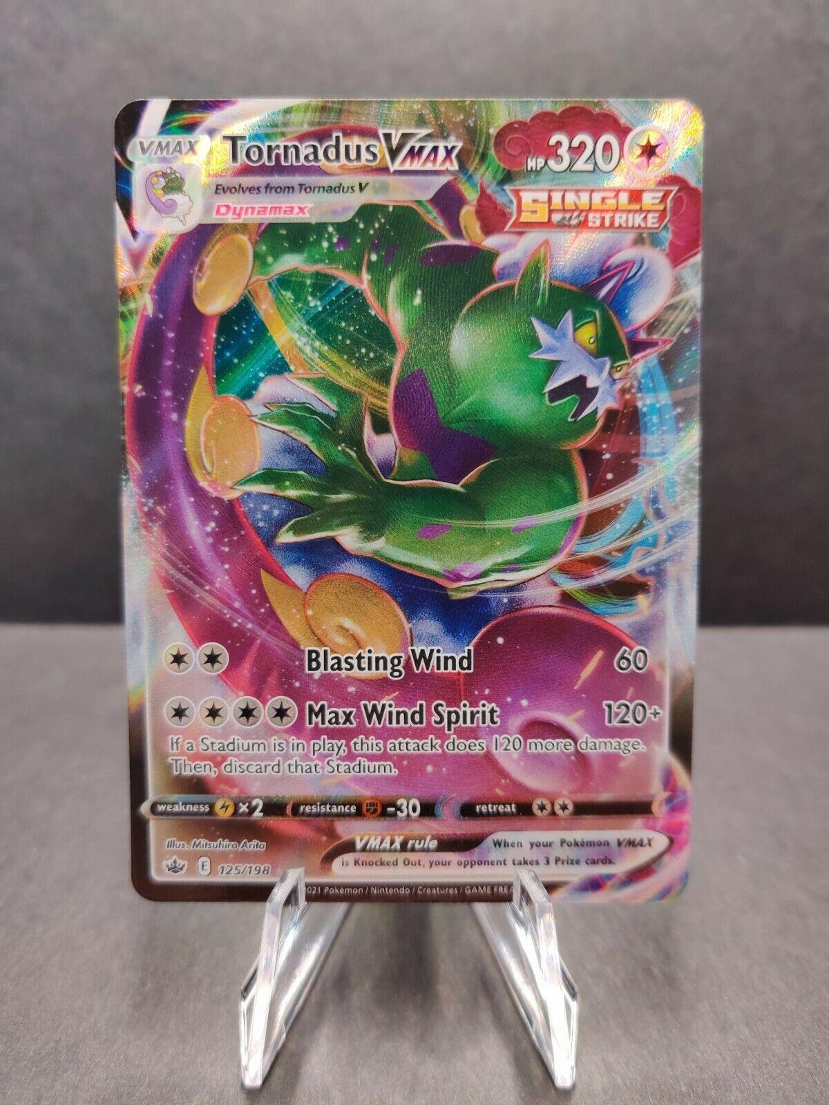 Pokemon Chilling Reign Tornadus Vmax 125/198 - Near Mint - Free Shipping