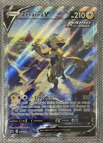 Pokemon Card Chilling Reign Zeraora V ALTERNATIVE Art Ultra Rare NM/M 166/198