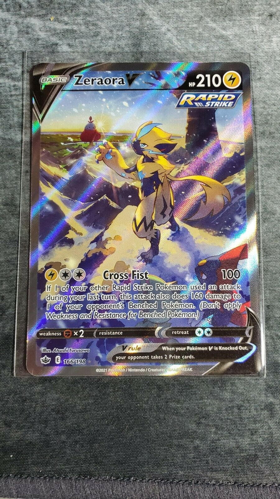 Zeraora V | Pokemon | 166/198 | NM | Ultra Rare | Chilling Reign | Alternate Art