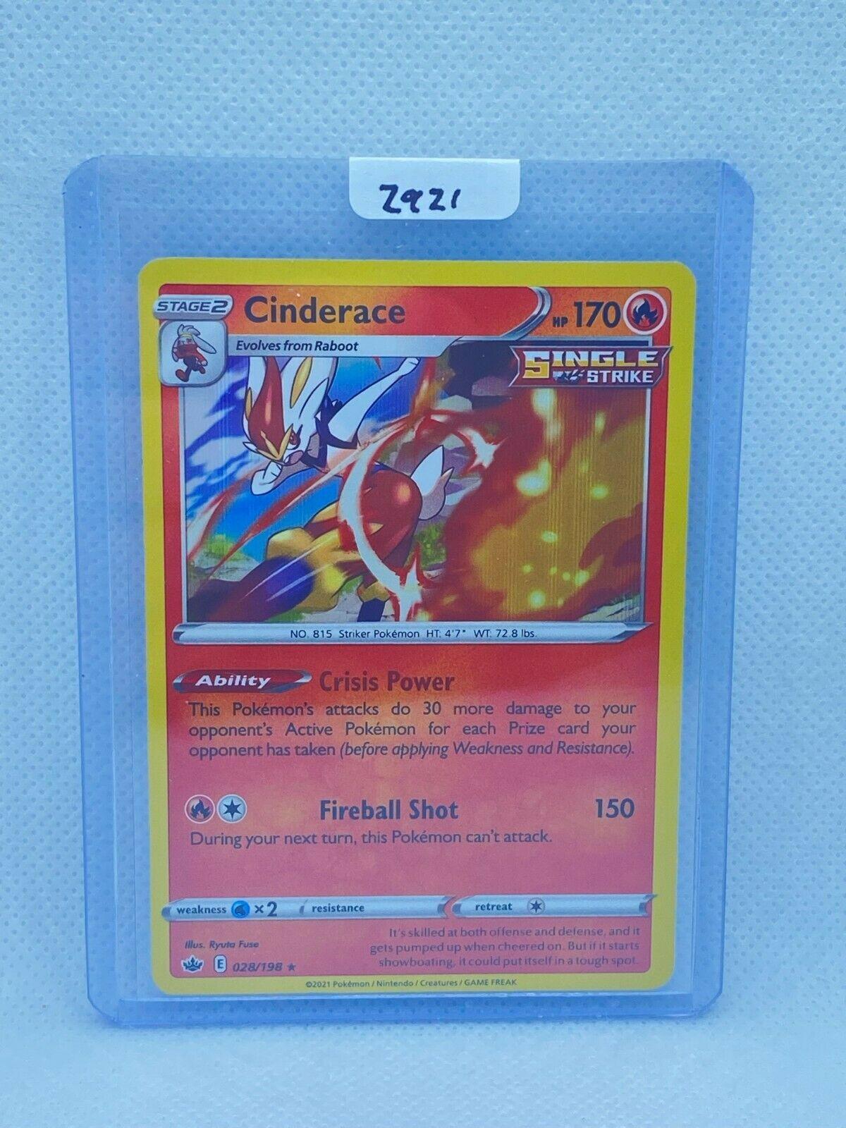 Pokémon TCG Cinderace Holo 028/198 | Chilling Reign | Play/Grade Ready