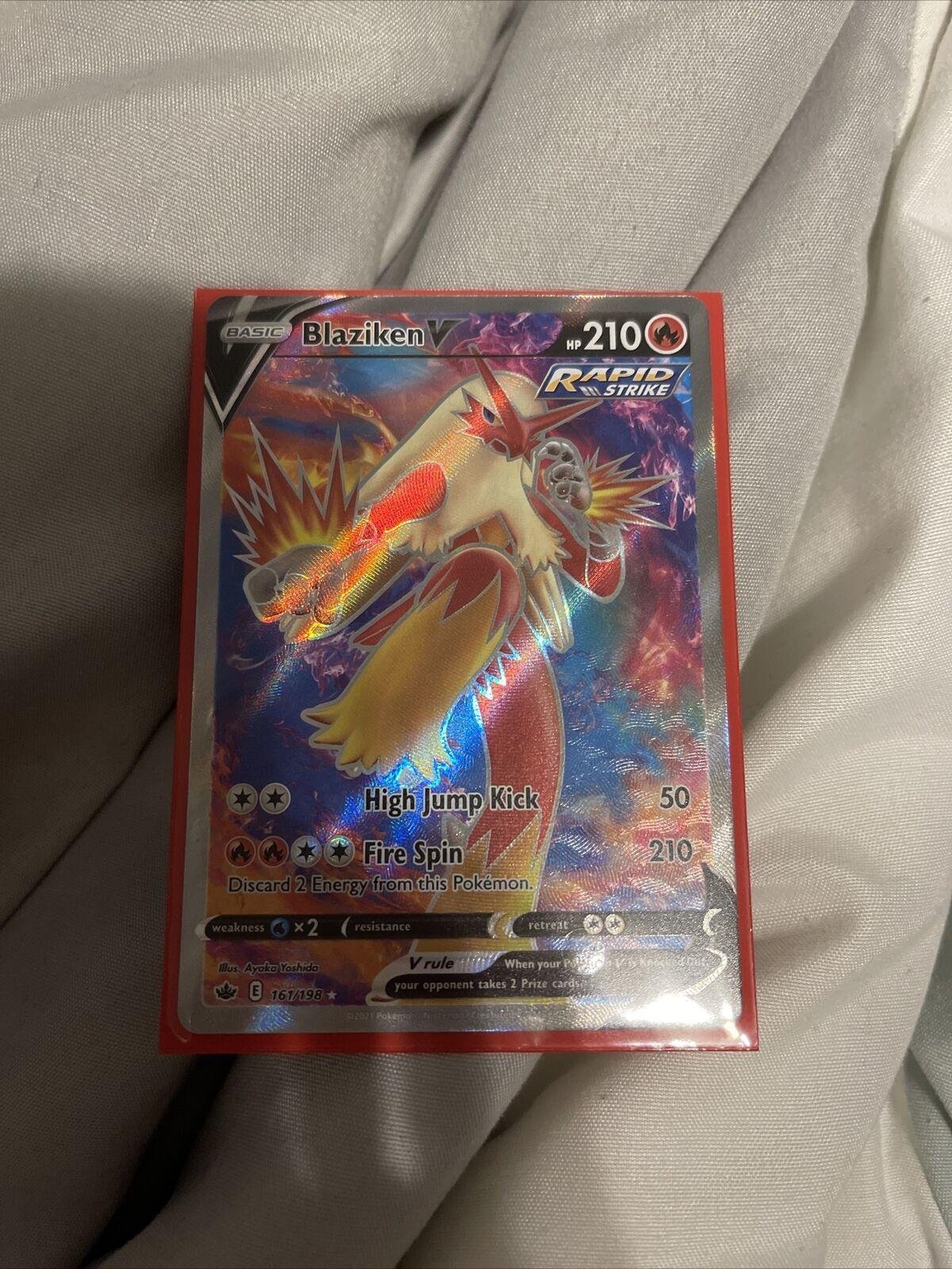 Blaziken V 161/198 Pokémon TCG Chilling Reign Full Art Ultra Rare Near Mint