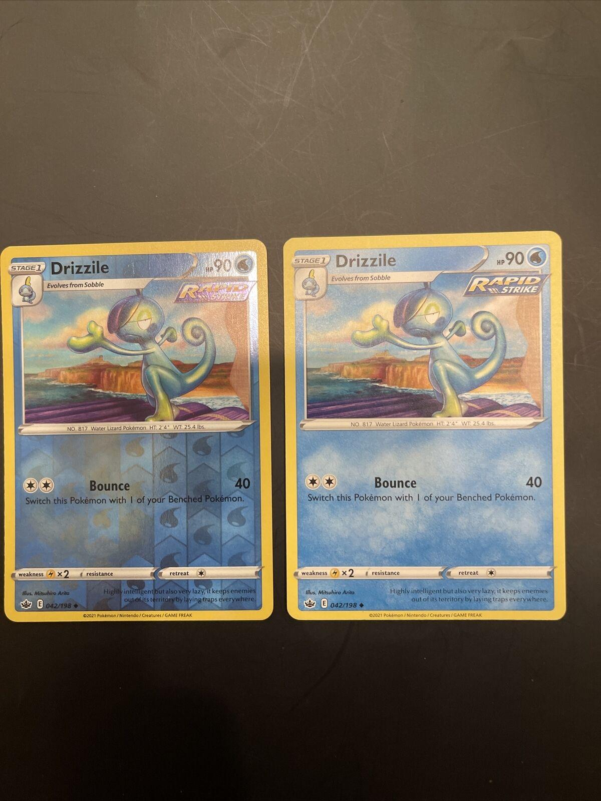 🔥X2 Drizzile 042/198 Uncommon Reverse Holo Pokemon Card Chilling Reign - NM