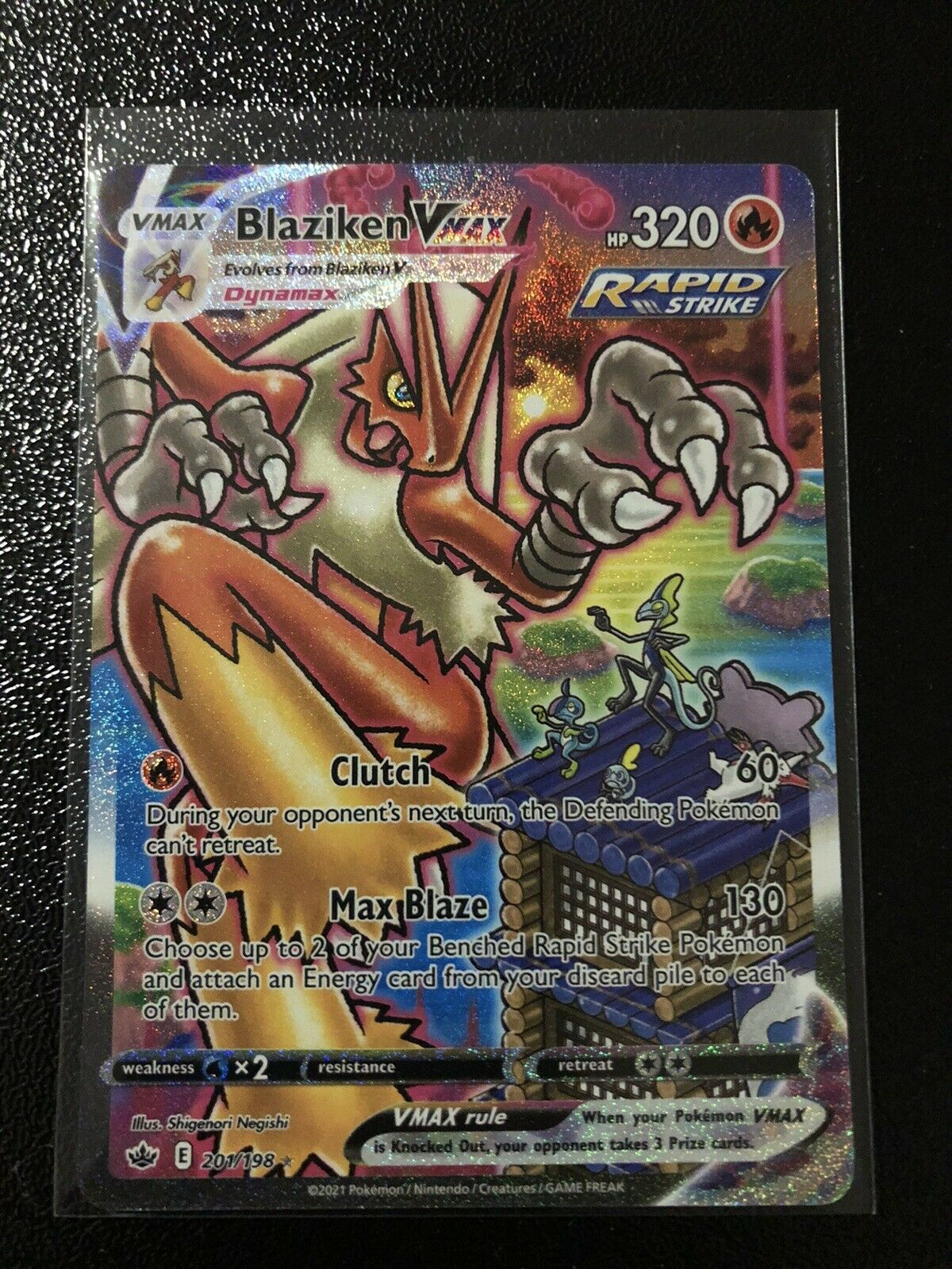 Pokemon TCG BLAZIKEN VMAX 201/198 Chilling Reign ALTERNATE ART SECRET RARE