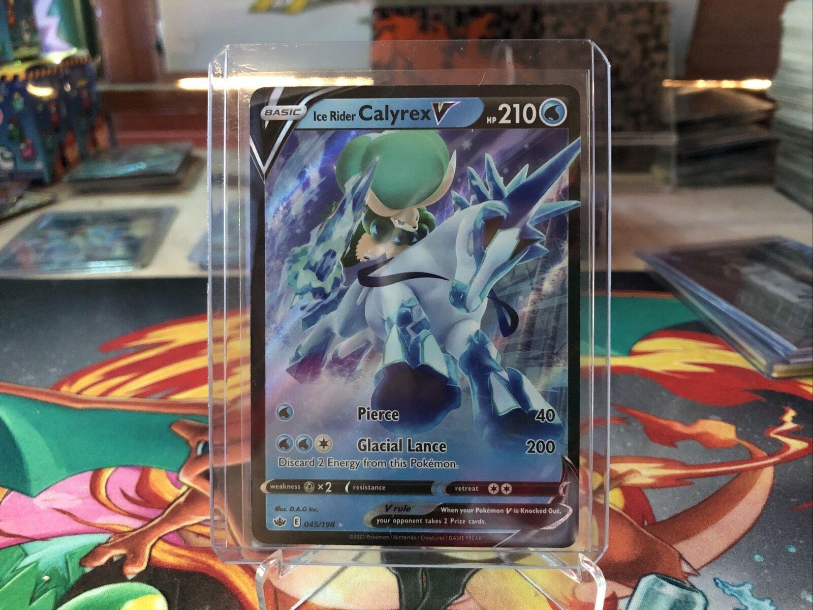 Ice Rider Calyrex V 163/198 Full Art Chilling Reign Pokemon Card Holo Rare Mint
