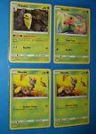 Kakuna 4/181, 3x Weedle (1x 2/181 & 2x 3/181) Pokemon card SM Team Up LP/MP