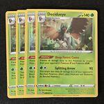 4x Decidueye 008/072 Holo Rare Pokemon Card Shining Fates - NM