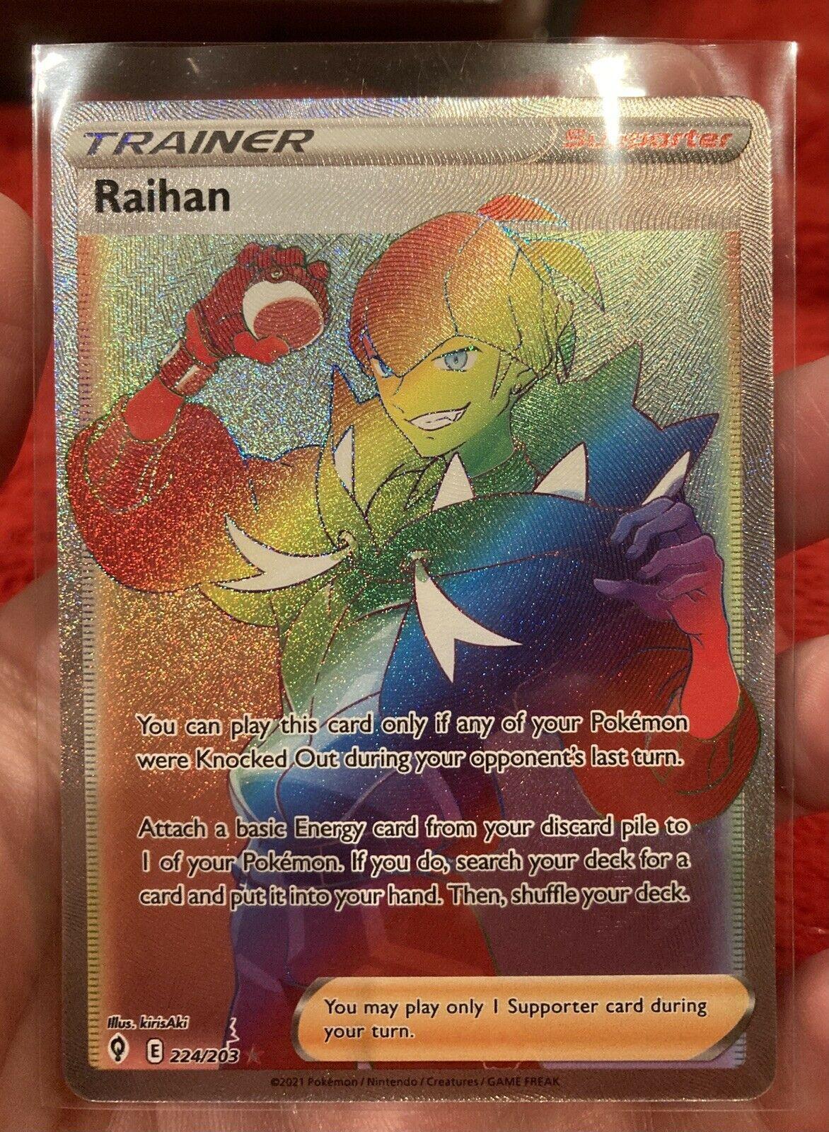 Raihan Rainbow Full Art - 224/203 Evolving Skies - NM/M