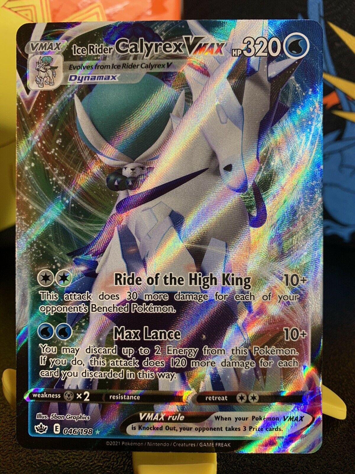 Ice Rider Calyrex Vmax 046/198 Pokémon TCG Chilling Reign Ultra Rare NM/M !