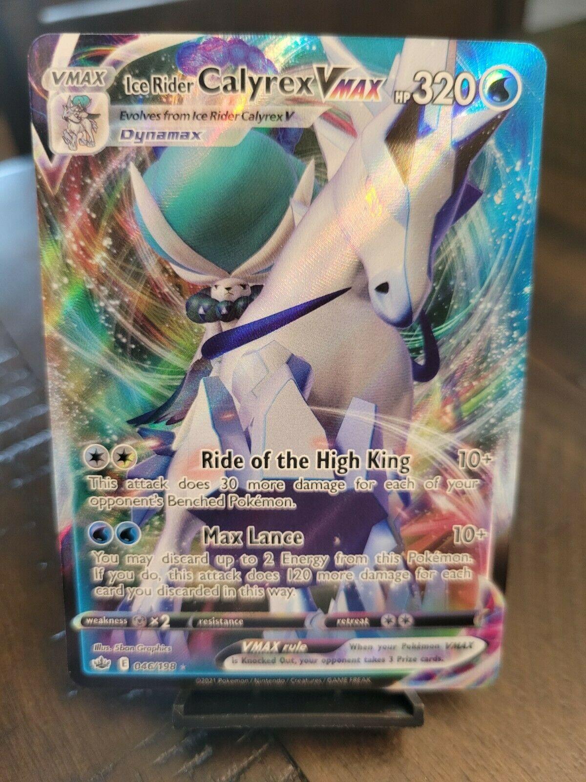 Pokemon TCG Ice Rider Calyrex VMAX Near Mint Chilling Reign 046/198