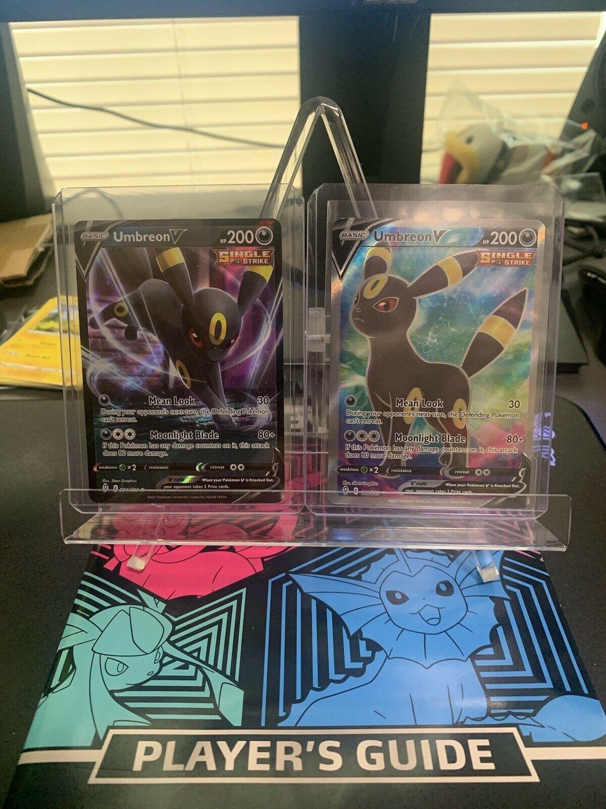 Pokémon Umbreon V 188/203 + 094/203 Evolving Skies Full Art Rare-Single Strike