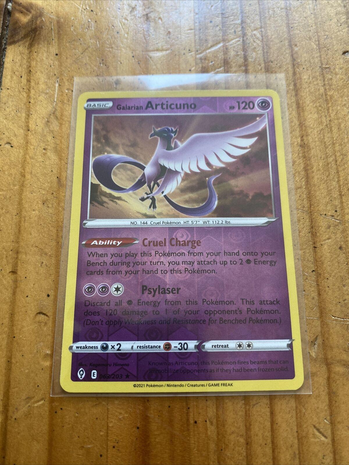 Pokemon - Galarian Articuno - 063/203 - Reverse Holo Rare - Evolving Skies - New