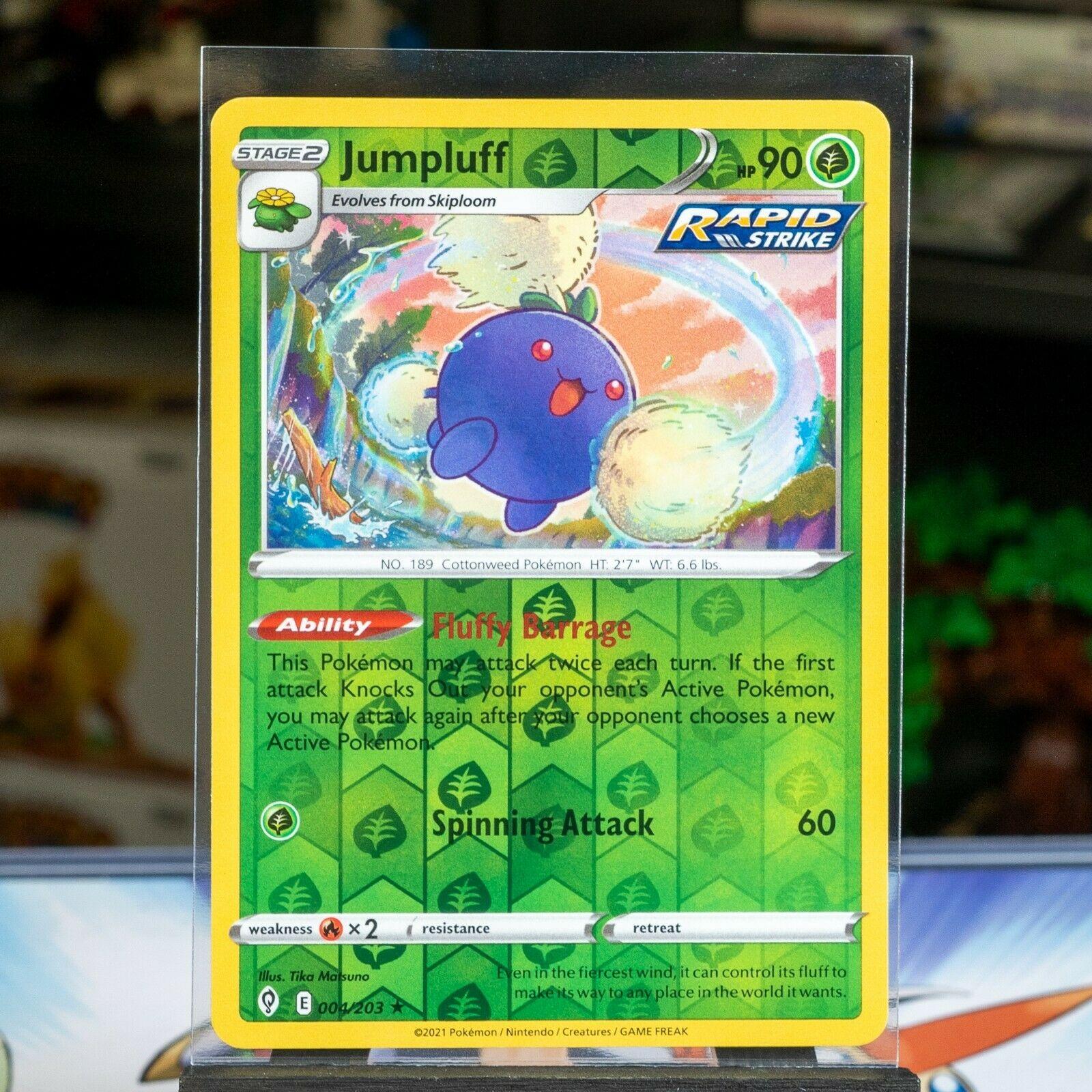 Jumpluff - #004/203 - Pokemon TCG: SW&SH Evolving Skies Reverse Holo Card
