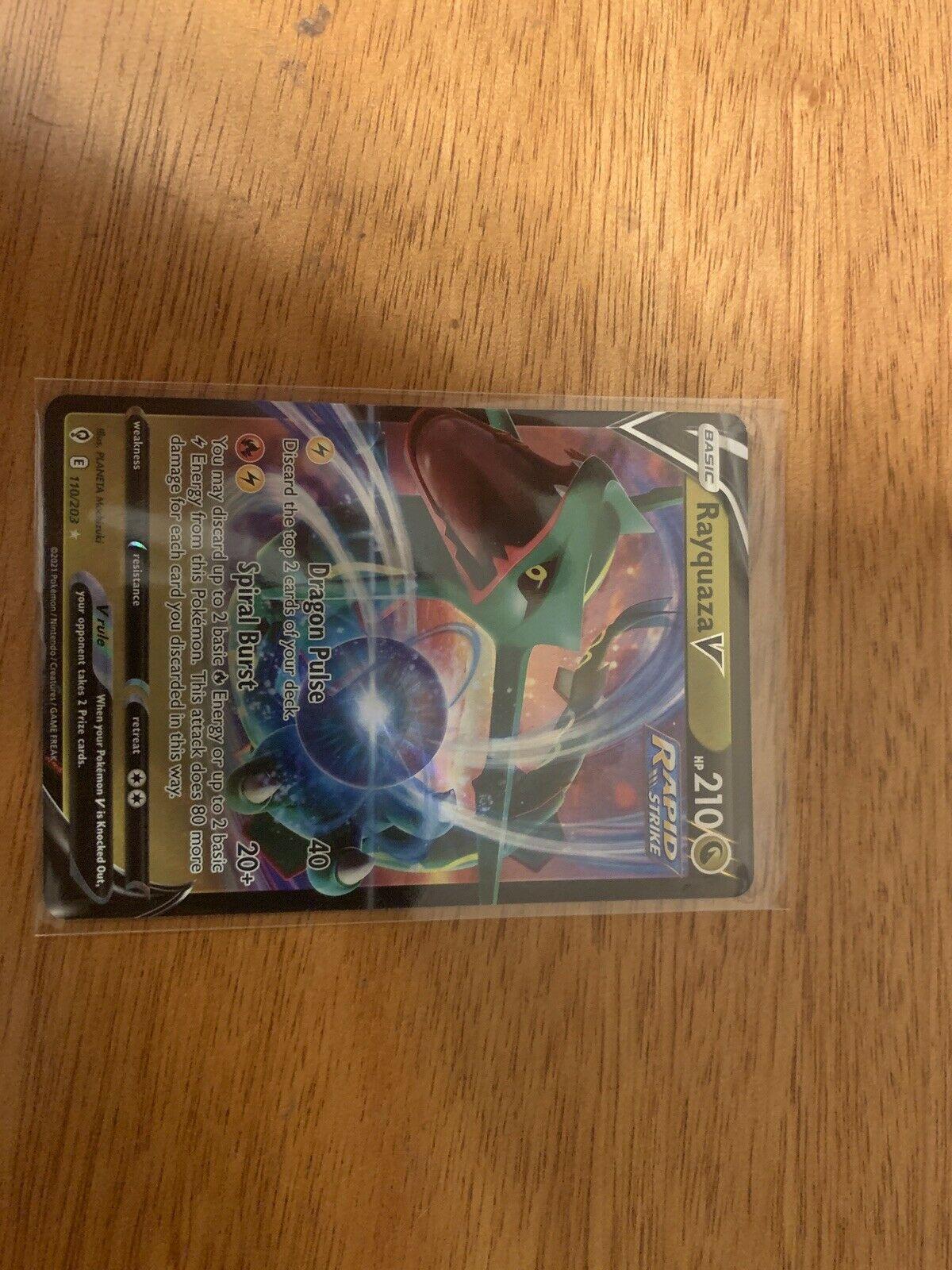 Rayquaza V 110/203 - Evolving Skies - Pokemon TCG Card - NM - Image 1