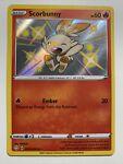 Pokemon Holo NM Shiny Scorbunny SV015/SV122 Shining Fates