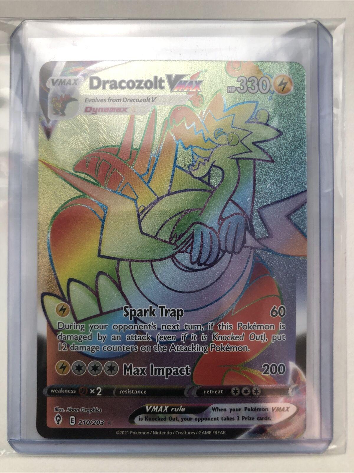 Dracozolt Vmax 210/203 Evolving Skies NM Full Art Secret Rainbow Rare Pokemon