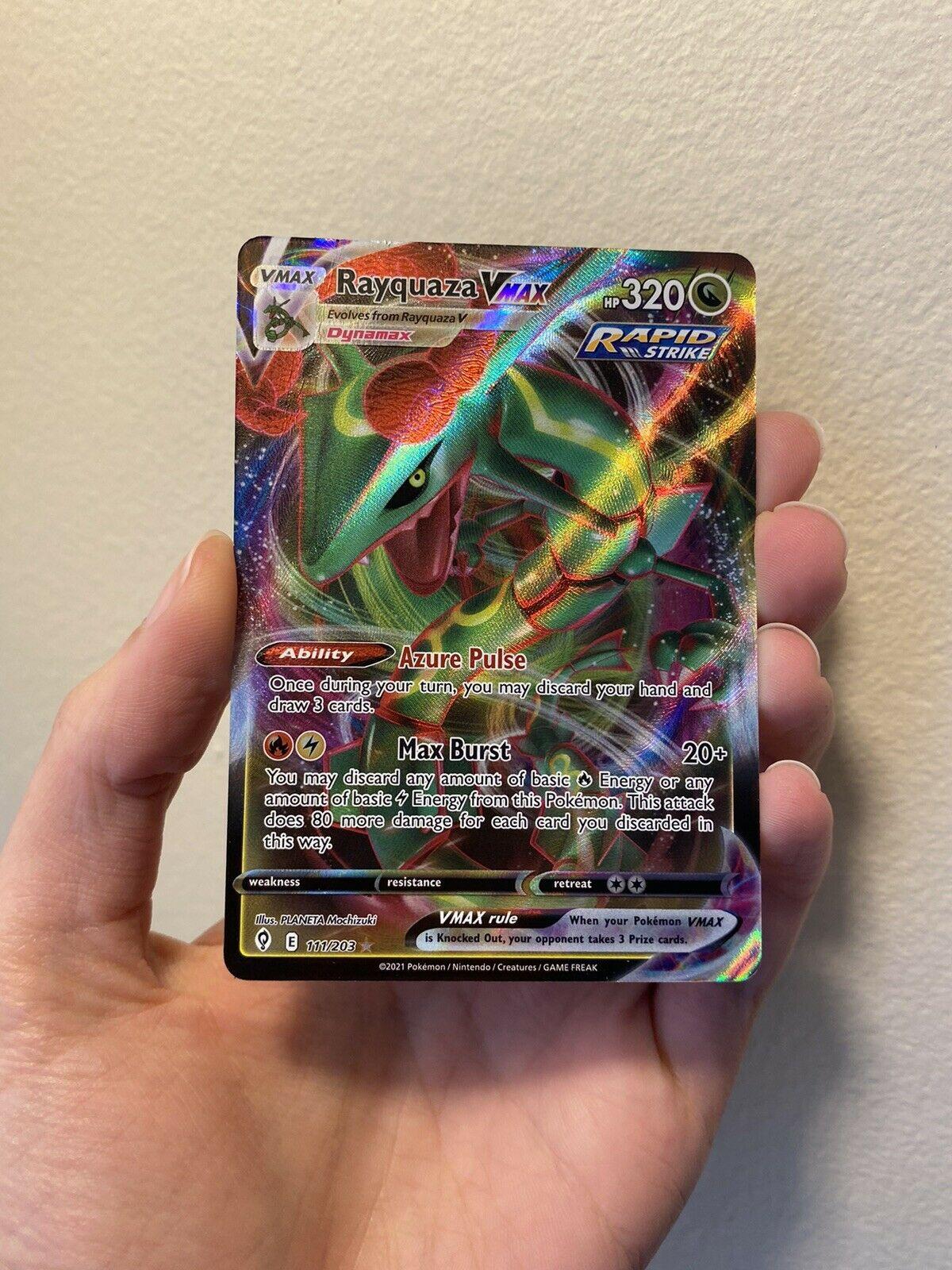 Pokemon Evolving Skies Rayquaza VMAX Full Art Ultra Rare 111/203