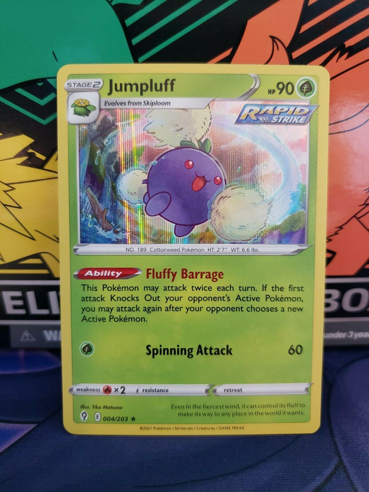 Jumpluff 004/203 Holo Rare Pokemon Evolving Skies NM/M