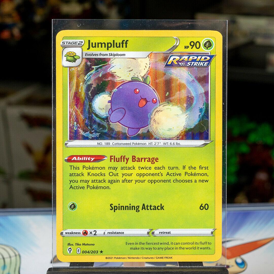 Jumpluff - #004/203 - Pokemon TCG: Sword & Shield Evolving Skies Holo Rare Card