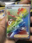 Phoebe 175/163 Rainbow Secret Rare Trainer Battle Styles Pokemon Card - NM/MINT