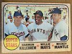 1968 Topps Mickey Mantle #490 Baseball Card Willie Mays New York Yankees