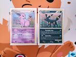Espeon 2/90 + Umbreon 10/90 Holo Rare Set Pokemon HGSS Undaunted 2010 NM/LP