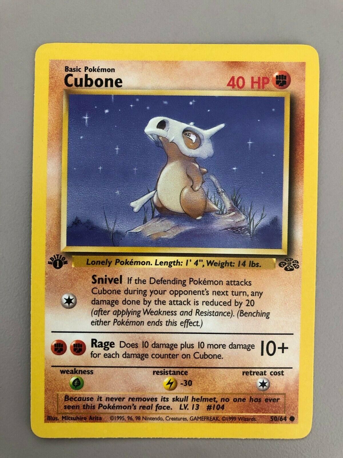 CUBONE 50//64 NM-M Jungle Base Set Pokemon Card