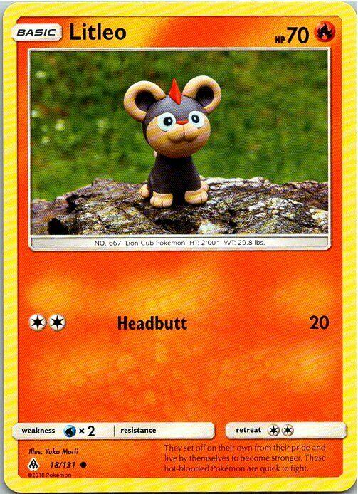 Litleo 18/131 Common Regular Pokemon Forbidden Light Mint  - Image 1