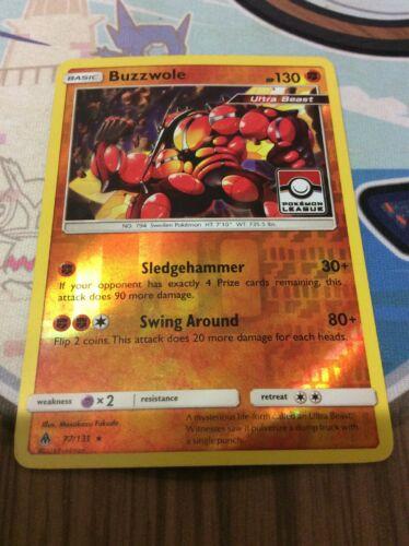 Pokemon TCG - BUZZWOLE - Pokemon League - Holo Rare - Forbidden Light 77/131 - Image 1