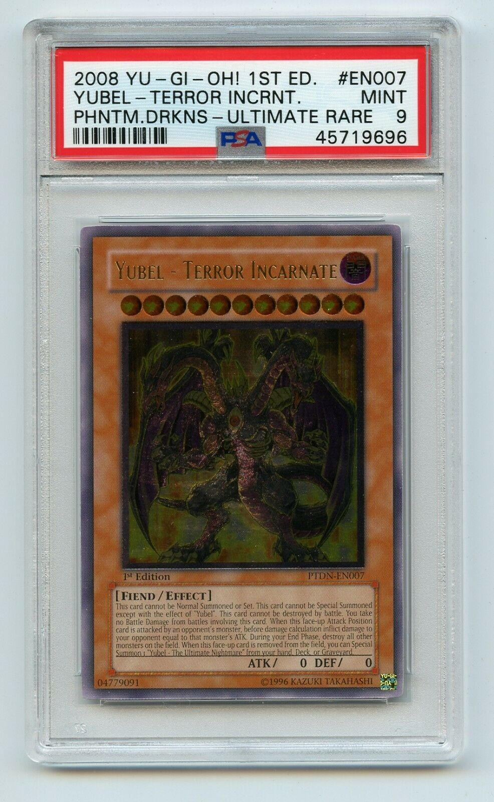 yugioh Yubel Terror Incarnate PTDN-EN007 Ultimate Rare 1st Edition NEAR MINT