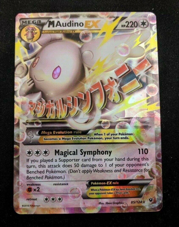 Ultra Rare Pokemon Card 85//124 XY Fates Collide Mega Audino ex