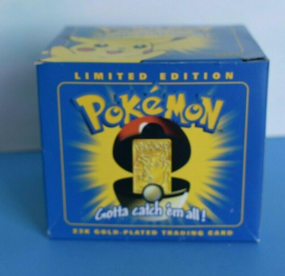 NEW NIB Pokemon 23K 23 K Gold Card PIKACHU Burgerking COA Blue Box /& Pokeball