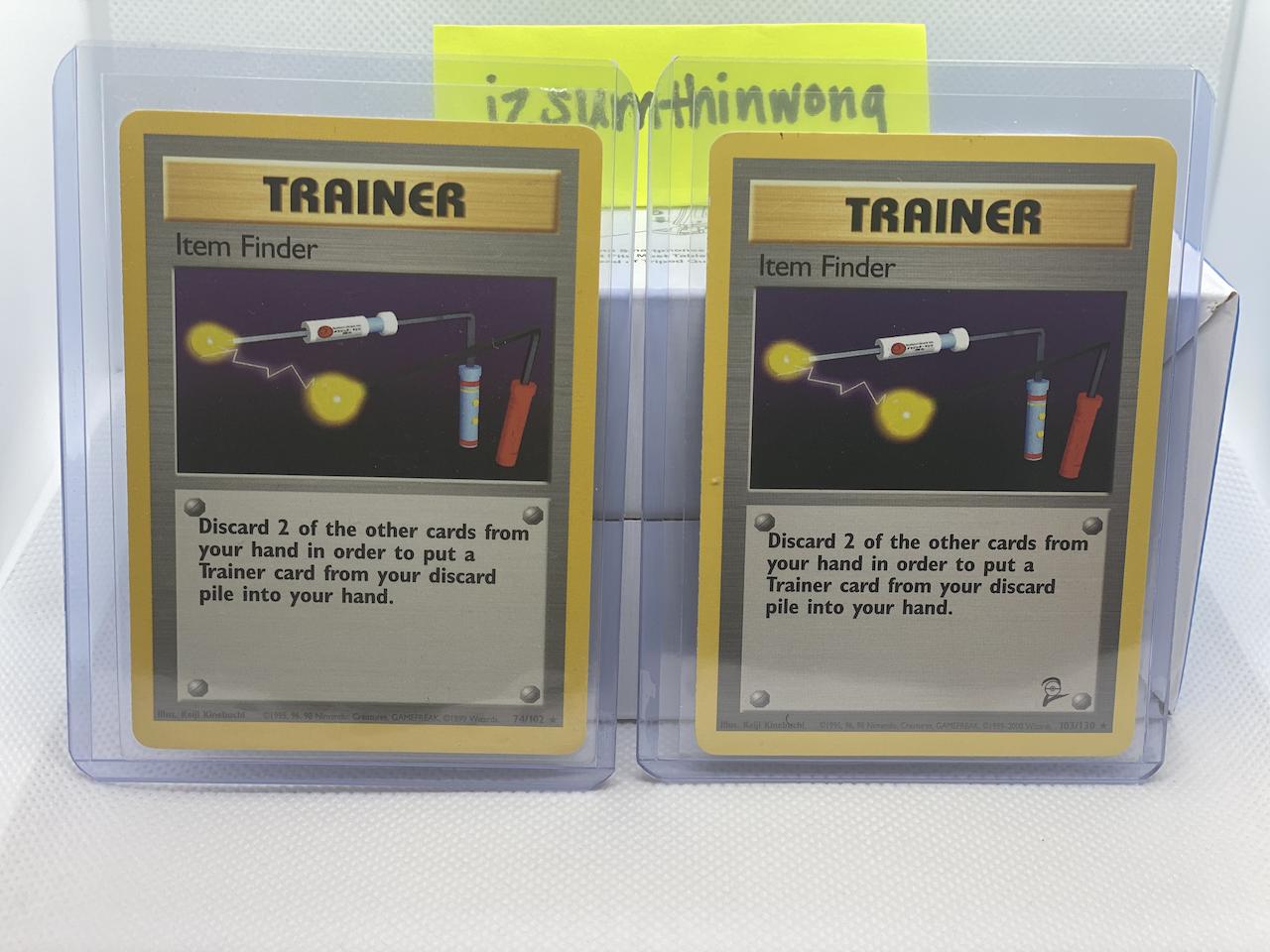 Item Finder Pokemon Card 103//130 Base Set 2 Non Holo Rare Unlimited WOTC NM PSA?
