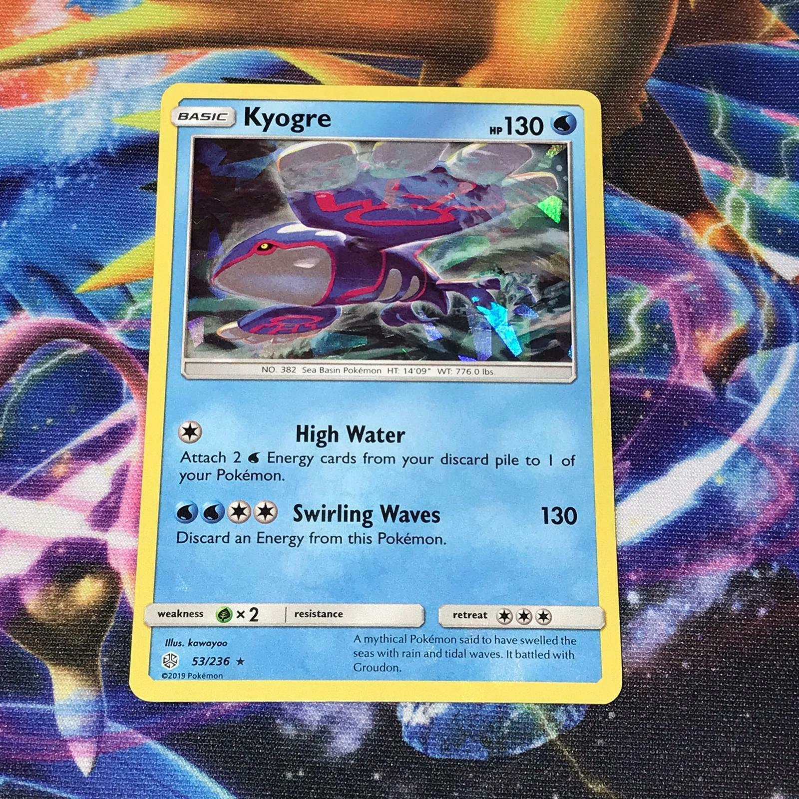 French designer card pokemon Kyogre-sl12 cosmic eclipse 53//236